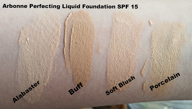 Arbonne Foundation Swatches